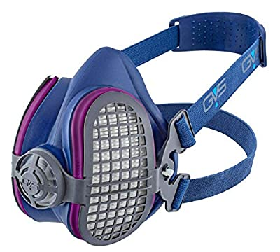 Vapour Half Mask Respirator with Replaceable and Reusable Filters Included