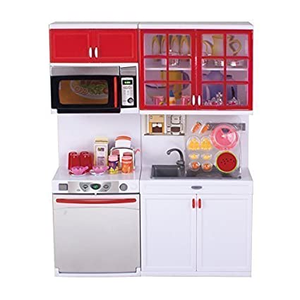 Amazon Com Qun Feng Girls Modern Toy Kitchen Playset Perfect For