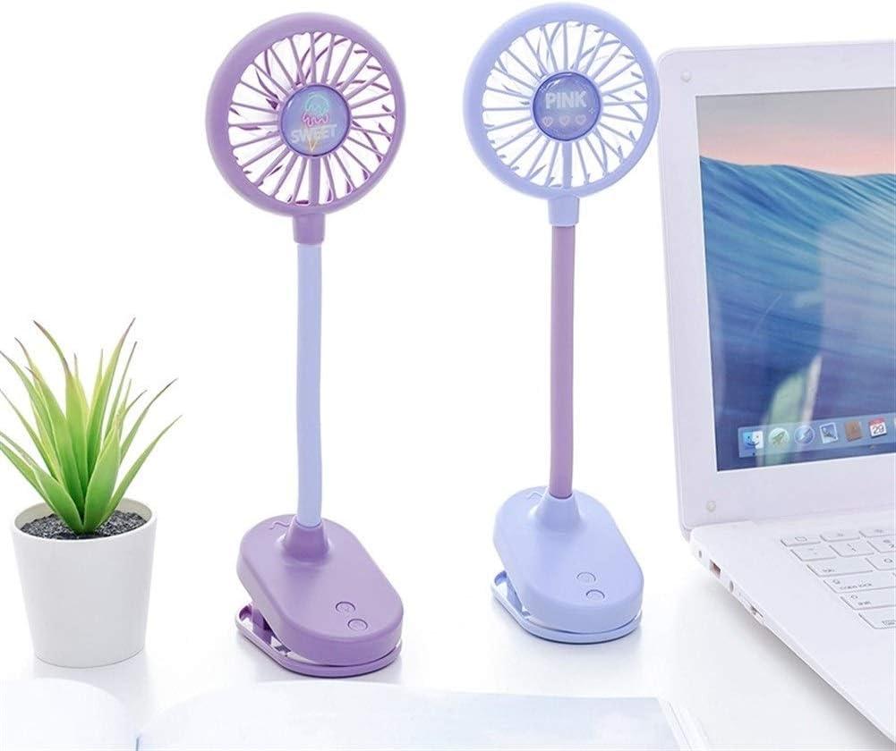 XIAOF-FEN USB Fan Mute Rechargeable Fan Desktop Handheld Portable Fan Flexible Clip Fan USB Fan Color : 02