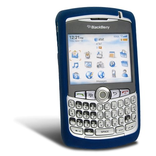 Blackberry Curve 8300 Silicone Skin Case [OEM] HDW-13840-011, Dark Blue