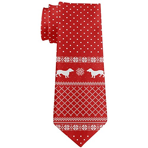 Used, Ugly Christmas Sweater Dachshund All Over Neck Tie for sale  Delivered anywhere in USA