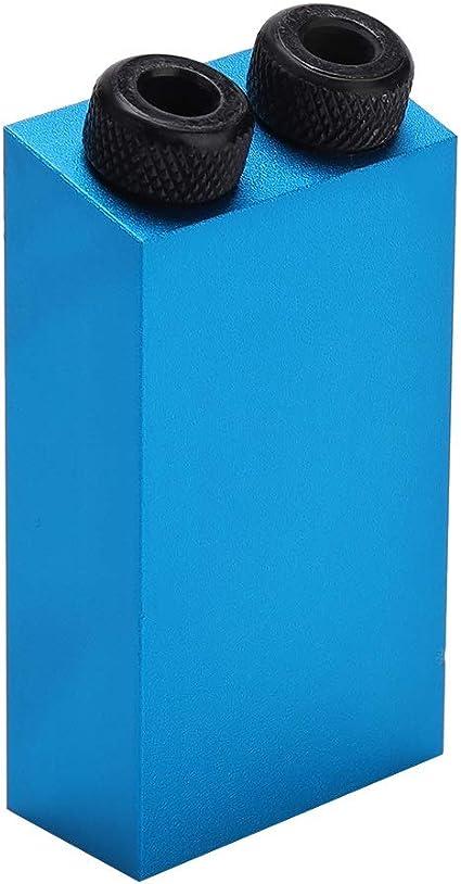 14pcs 15 /° Kit de perforaci/ón de orificios de bolsillo de aleaci/ón de aluminio para carpinter/ía Herramienta de localizaci/ón de posicionador oblicuo de gu/ía de taladro