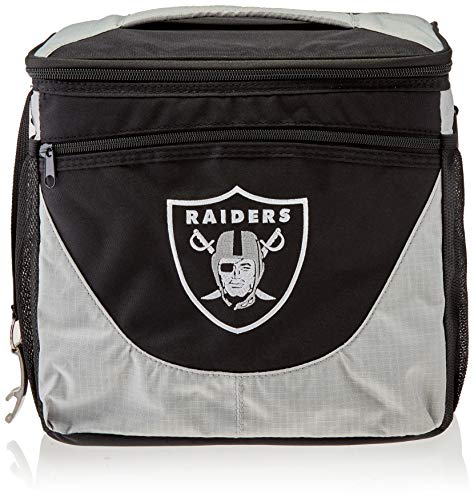 Logo Brands 623-63 NFL Oakland Raiders 24 Can Cooler, One Size, Black/Gray
