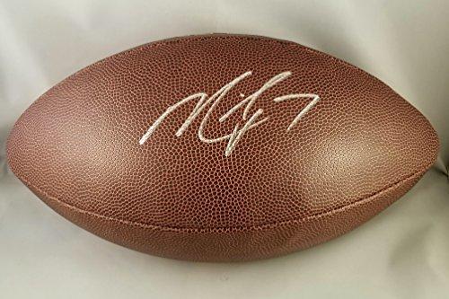 Michael Vick Autographed Signed Football Atlanta Falcon Steelers Eagles JSA (Vick Atlanta Falcons Autographed Football)