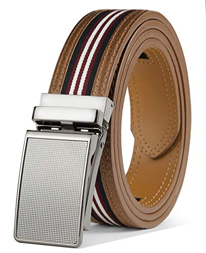 Mens Belt,Bulliant Leather Click Ratchet Belt For Mens Dress Casual Golf Belt,Size-Customized ()