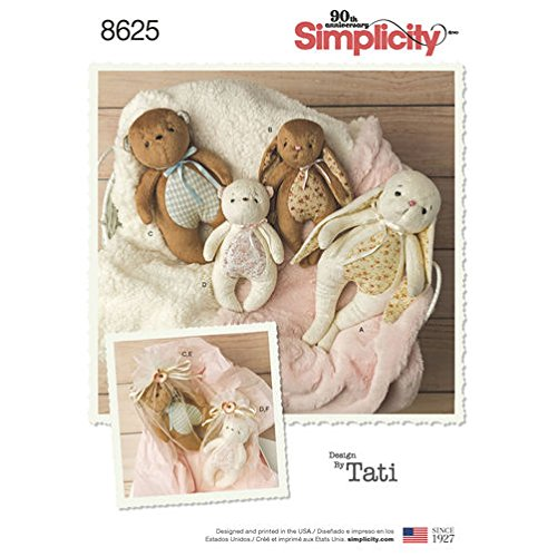 Simplicity Pattern 8625 Stuffed Animals and Gift - Sewing Pattern Bunny