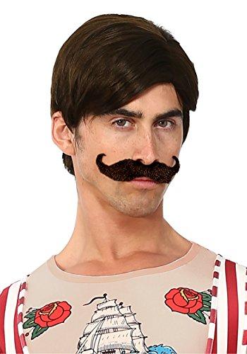 Men's Strongman Wig and Mustache - -
