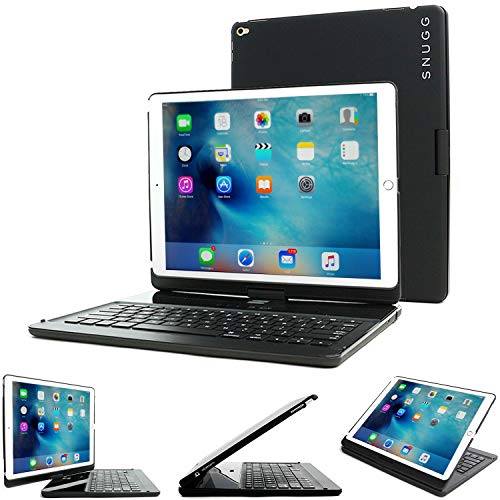iPad Mini 1 / 2 / 3 360 Rotatable Keyboard Case, SnuggTM - Ultra Slim Keyboard Cover Case with Bluetooth Connectivity For Apple iPad Mini 1 / 2 / 3 Retina (Black)