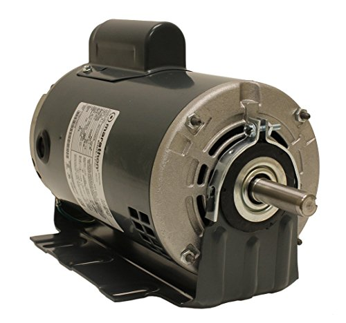 Marathon S115 56 Frame General Purpose Motor, Single Split Phase, Resilient Base, Open Drip Proof, 10.4/5.2 amp, 3/4 hp, 1800 RPM, 115/230V ()