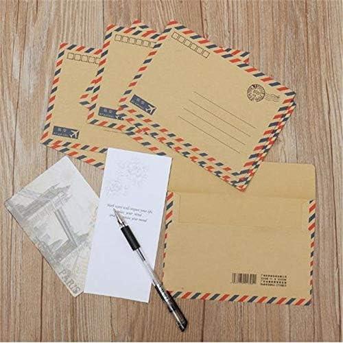FANGDAHAI BriefpapierLiefert 8 Teile/los Klassische Postkarte Brief Schreibwaren Papier Kraft Umschlag Vintage Brieftasche Umschlag Büro Schulbedarf