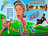 Little Granny Light-saber Hover Board Family Fails And Falls!