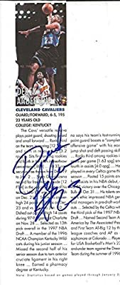 Derek Anderson Signed 1998 Magazine Page Cavaliers Kentucky - JSA Certified - Autographed NFL Magazines