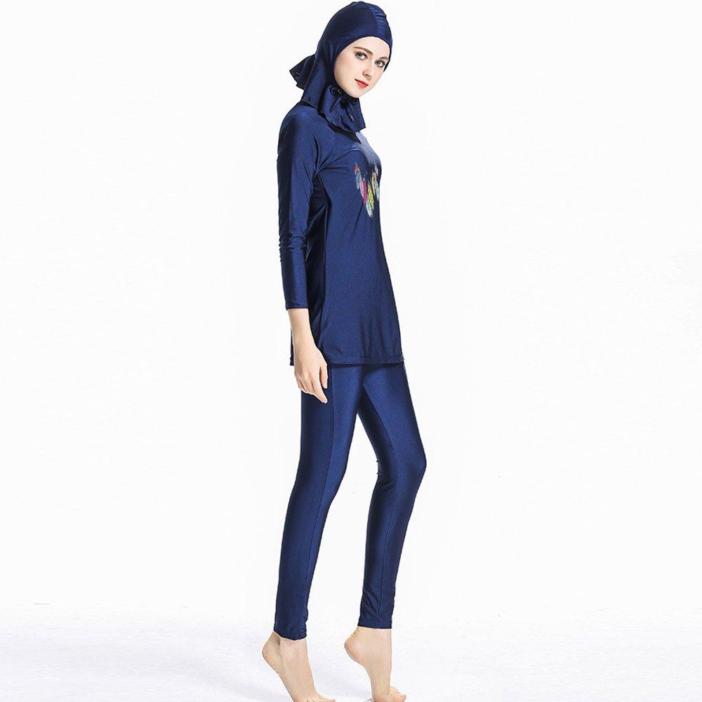 1091ab519ca ziyimaoyi Muslim Swimwear for Women Girls Conservative Islamic Hijab  Swimsuits: Amazon.co.uk: Sports & Outdoors