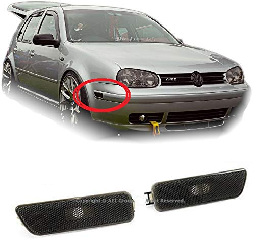 - Brand] EAX Compatible with Volkswagen VW Golf Jetta 99 00 01 02 03 04 05 MK4 Replacement for Front Bumper Side Marker Light Lamp Smoke 1999 2000 2001 2002 2003 2004 2005