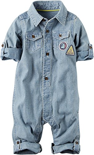 Carters Baby Boys Chambray Romper