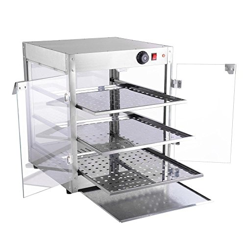 NEW LEAF Commercial 3 Tier Food Warmer Display Case Pizza Cabinet