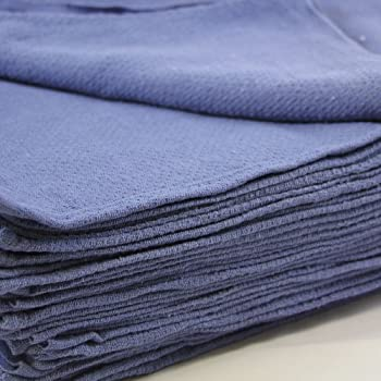 "Huck Towels Blue-Commercial -50 Piece Pack -16""x 24""- NEW 100% Cotton Super Absorbent-Lint Free-**Free Shipping**"