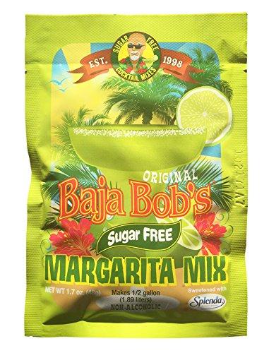 Low Carb Margarita (Baja Bob's Margarita Cocktail Mix, Sugar Free & Low Carb - 48g Packet Makes 1/2 gallon)