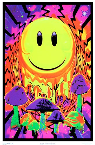 Have a Nice Trip Flocked Blacklight Poster by Opticz
