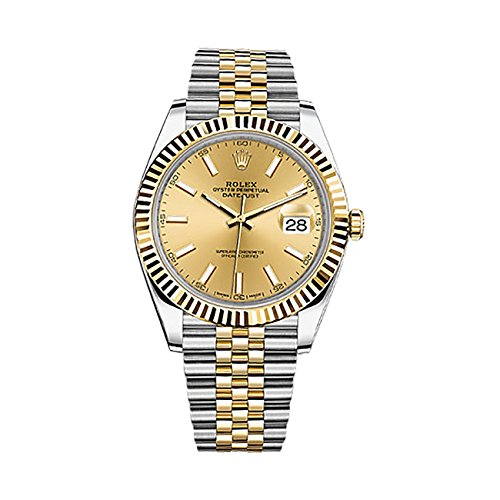 Rolex Datejust Ii 41mm Champagne Dial Yellow Gold And Steel Men's Watch 126333