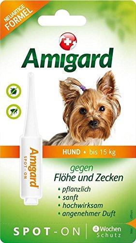 AMIGARD Spot-on Hund unter 15 kg - 3x2ml Solnova AG