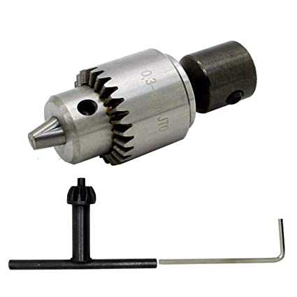 5a8349814457cf 1 Set Durable Electric Drill Chuck 0.3-4mm Jt0 Taper Mounted With 5mm Motor  Shaft For Power Tools - - Amazon.com