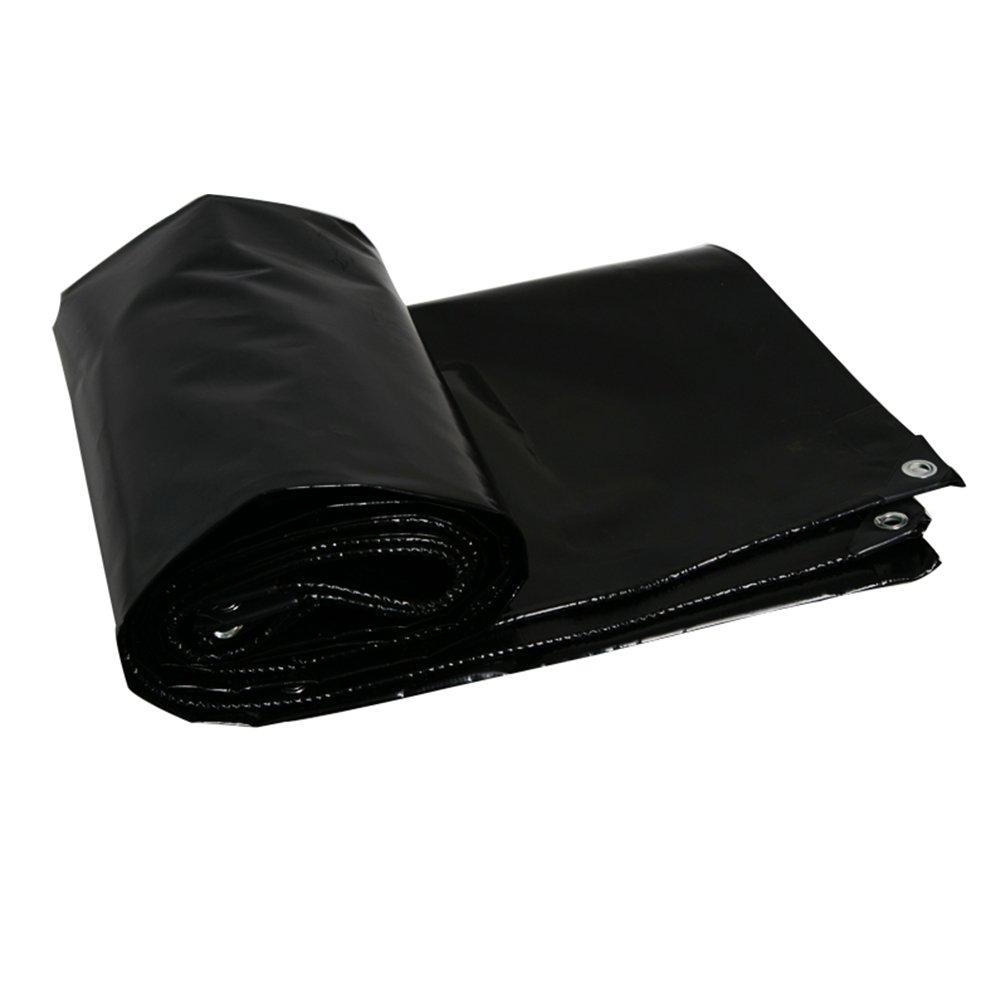 ZEMIN オーニング サンシェード ターポリン 防水 日焼け止め テント シート ルーフ 防風 カバー キャンバス ポリエステル、 黒、 600G/7サイズあり (色 : ブラック, サイズ さいず : 3X4M) B07D21N7SS 3X4M ブラック ブラック 3X4M