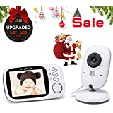 """Baby Monitor with Camera Without Radiation- Night Vision intercom Function Longer Range and Temperature Monitoring, Video Baby Monitor Monitoring with 3.2""""LCD"""