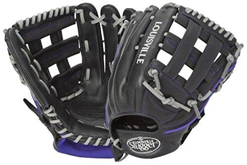 Louisville Slugger Xeno Softball Mitt, Left, Black, - Slugger Glove Softball Leather Louisville