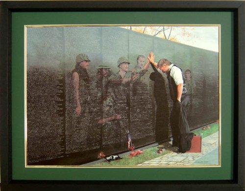 (Framed Reflections Vietnam Memorial Print)