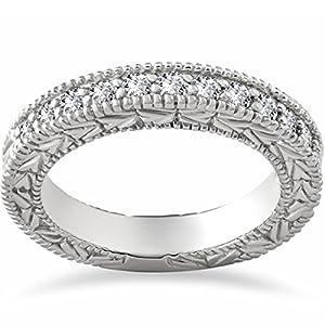 Amazon.com: Vintage .25ct Womens Diamond Wedding Ring