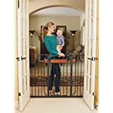 Regalo Home Accents Extra Tall Walk Thru Gate, Hardwood...