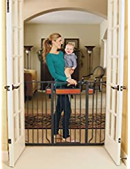Regalo Home Accents Extra Tall Walk Thru Gate, Hardwood and S...
