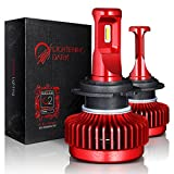 9007 5000k headlight bulbs - LIGHTENING DARK 10000 Lumens Ultra Bright 9007(Hi/Low) LED Headlight Bulbs,CREE Chip Conversion Kit,6000K Cool White - 3 Yr Warranty
