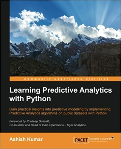 Book Learning Predictive Analytics with Python by Ashish Kumar (2016-02-15)