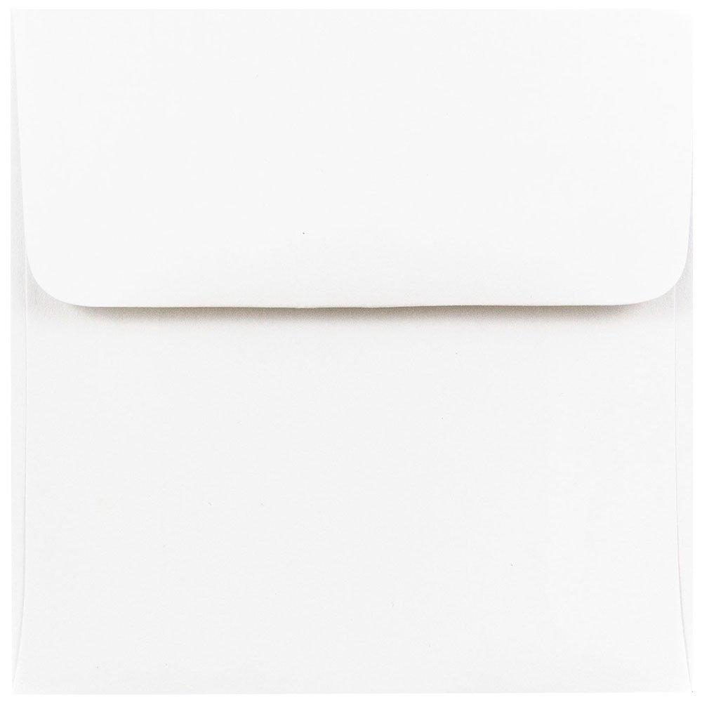 """JAM Paper 4.5"""" x 4.5"""" Square Invitation Envelopes - White - 25/pack"""