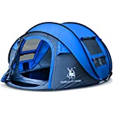 HUIYINGYANG 3-4 Persons Large Pop up Tent Waterproof Family Hiking Tent Opens Instantly in Seconds Camping Automatic Tent