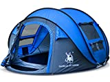 HUIYINGYANG 3-4 Persons Large Pop up Tent Waterproof Family Hiking Tent Opens Instantly