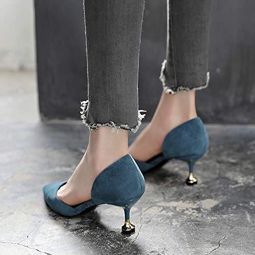 Yukun Schuhe mit hohen Absätzen Absätzen Absätzen Frauen Singles Frauen Mit Stiletto 5Cm Wild Spitz Katze Mit High Heels a94ad3