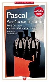 Pensées sur la justice par Pascal