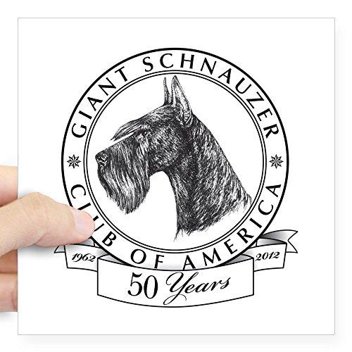 Giant Schnauzer Club - CafePress Giant Schnauzer Club of America Logo Square Sticke Square Bumper Sticker Car Decal, 3