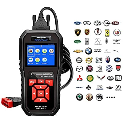 OBD2 Scanner, Seekone Professional Car Auto Diagnostic Code Reader OBDII & CAN Vehicle Engine O2 Sensor Systems EOBD Scanners Tool for all OBDII Protocol Cars Since 1996(Upgraded SR860) by SEEKONE