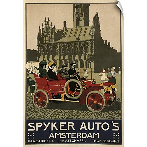 CANVAS ON DEMAND Spyker Auto 1910 - Vintage Automobile Advertisement Wall Peel Art Print, 12