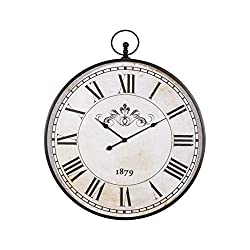 Signature Design by Ashley Augustina Wall Clock, Antique Black Finish