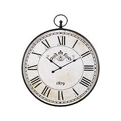 Ashley Furniture Signature Design Augustina Wall Clock, Antique Black Finish