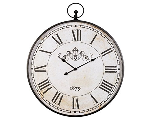 Ashley Clock (Ashley Furniture Signature Design Augustina Wall Clock, Antique Black Finish)