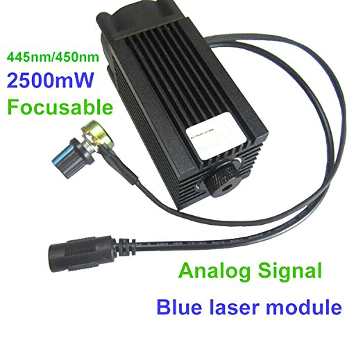 Analog Signal 445nm 450nm 2500mW 2.5W Blue Diode Laser Dot Module 12V DIY CNC Engraving by sunshine-electronics