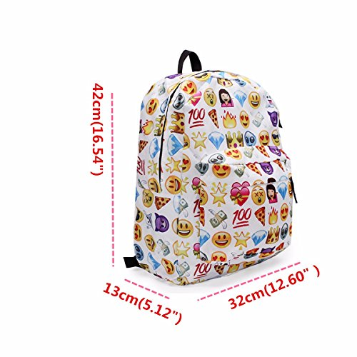 KING DO WAY Espressione Divertente Zaino Donne Zaino Viaggio Borsa Backpack Scuola