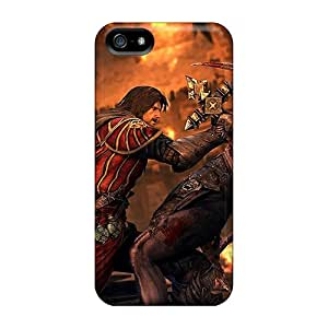 Iphone 5/5s Hard Back With Bumper Silicone Gel Tpu Case Cover Castlevania Los