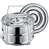 Stackable Steamer Insert Pans for Instant Pot Accessories 6/8 qt...
